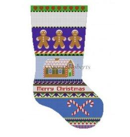 Susan Roberts Bold Stripe Gingerbread stocking