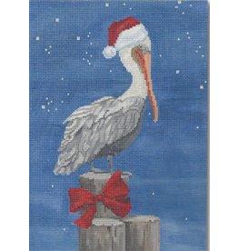 "CBK Needlepoint Christmas Pelican<br /> 9.5"" x 6.75"""