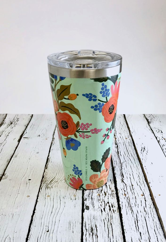 Pretty Mint Floral 16oz Tumbler