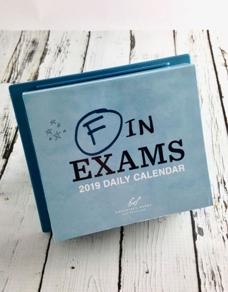 F in Exams 2019 Daily Calendar
