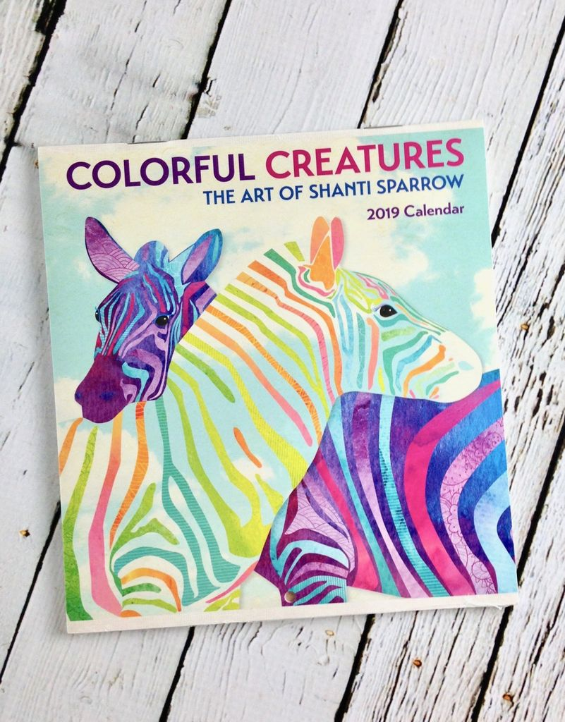 2019 Mini Wall Calendar Colorful Creatures The Art Of Shanti