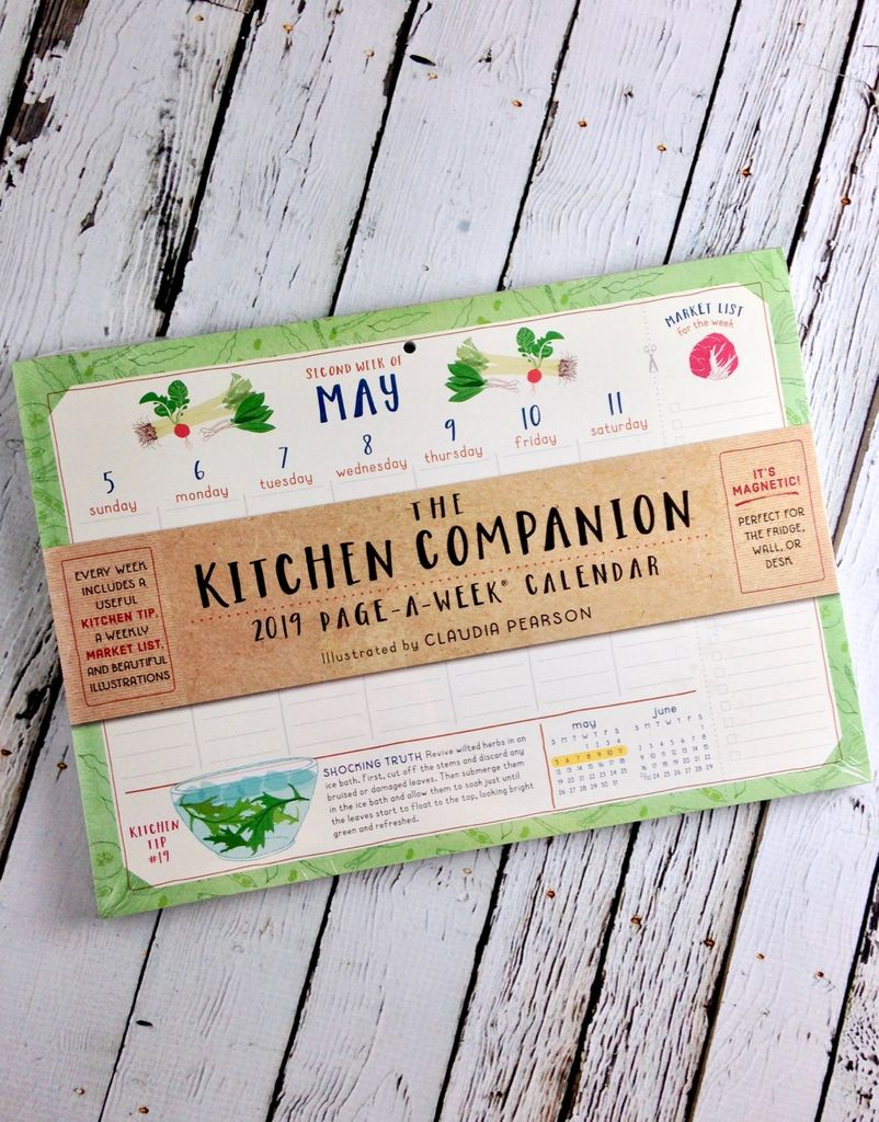 The Kitchen Companion Page a Week 2019 Calendar
