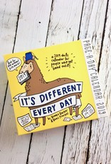 It's Different Everyday Daily Desk Calendar for People Who Get Bored Easily