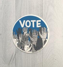 Vote! Round Vinyl Sticker