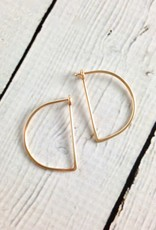 Gold Filled Small Half Moon Minimal Hoop Earrings