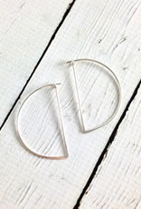 Sterling Silver Half Moon Minimal Hoop Earrings