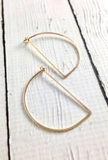 Gold Filled Half Moon Minimal Hoop Earrings