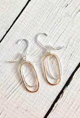 Sterling Silver Flame Earrings