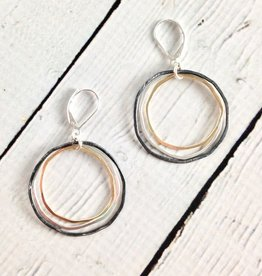 Mixed Metal Caldera Earrings