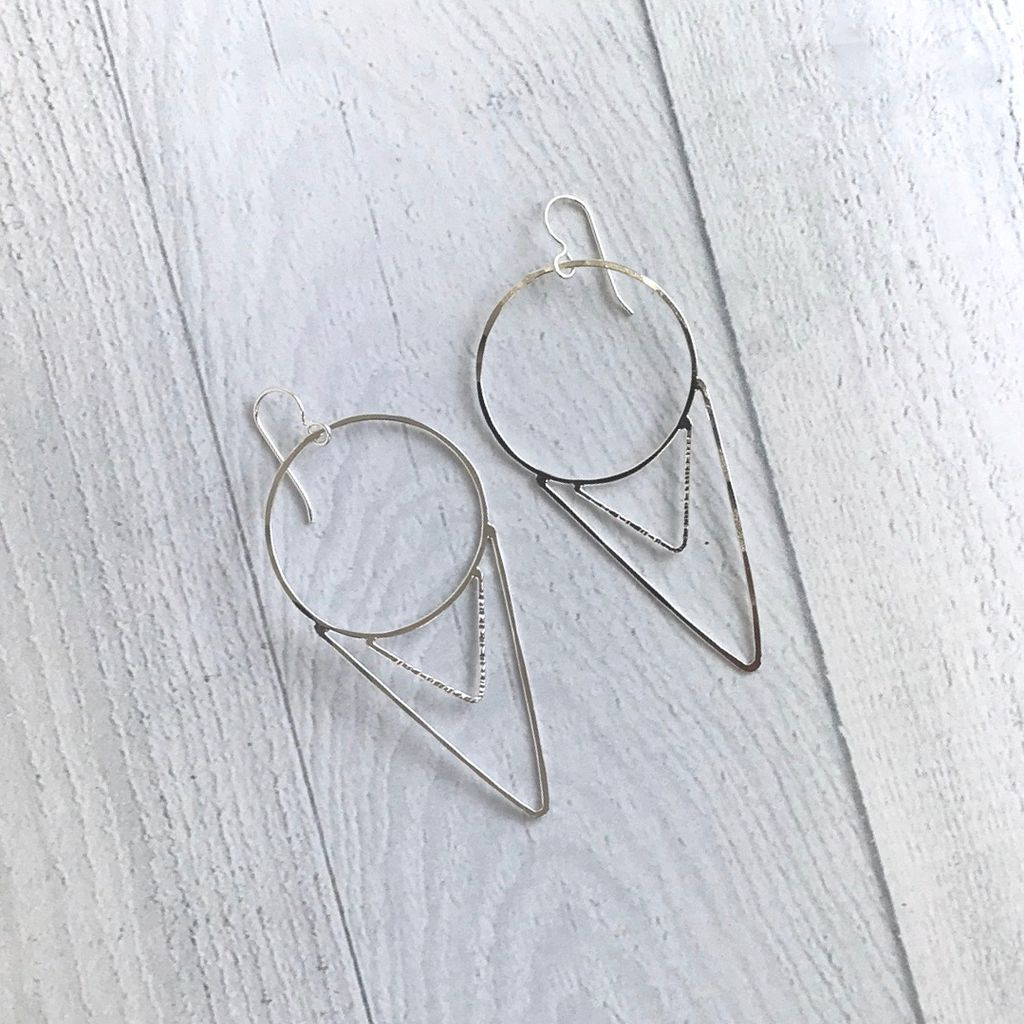 Handmade Sterling Silver Cora Earrings