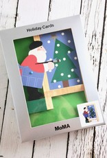 MoMA Santa's Masterpiece Boxed Holiday Cards by Sandra Lounsbury Foose, Set of 8
