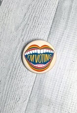 I'M VOTING button by Lisa Congdon and Pincause.