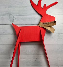 Large Alpine Reindeer, Red