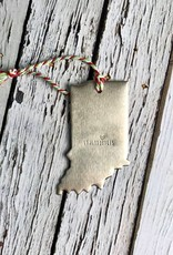 Handstamped Indianapolis Indiana Copper, Nickel, or Brass Ornament