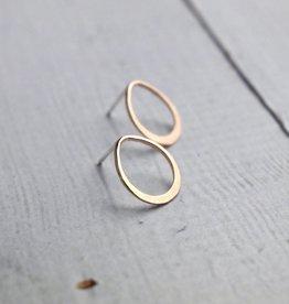 Handmade Post Earrings with 14kt goldfill teardrop