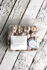 Mini Bag of Just Pop In! White Chocolate Peppermint Stick Seasonal Popcorn