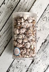 Small Tube of Just Pop In! White Chocolate Peppermint Stick Seasonal Popcorn