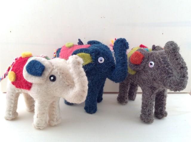 Felt Circus Elephant Ornament