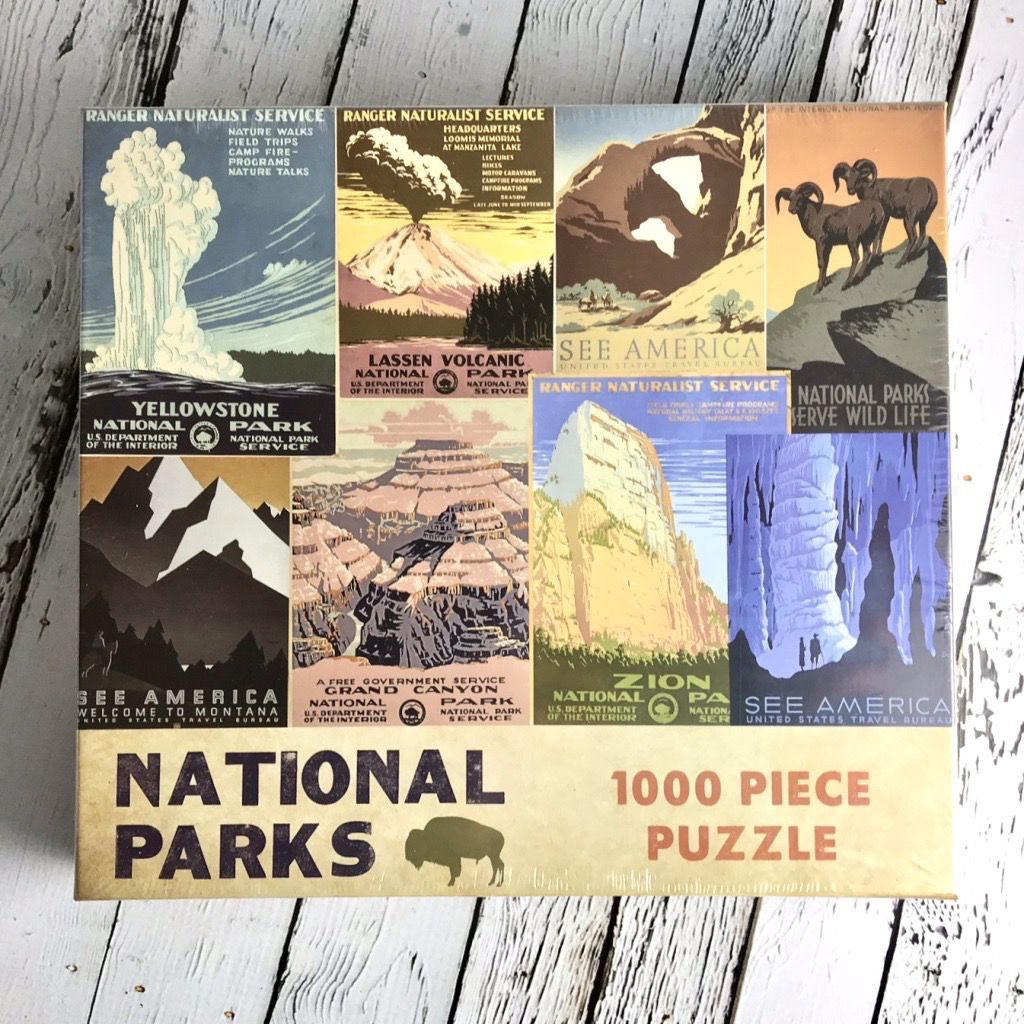 GIBBS SMITH National Parks 1000 piece puzzle