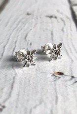 Sterling Silver and Marcasite Star Stud Earrings
