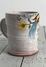Handmade Floral Icons Mug - Mister Rogers