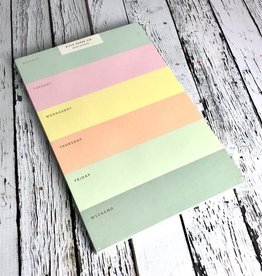 Color Block Weekly Notepad
