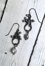 Handmade Sterling Silver Earrings with Gray Pearls