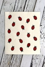 Fly Away Ladybug Swedish Dishcloth