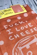 Fuck, I Love Cheese Woven Dish Towel