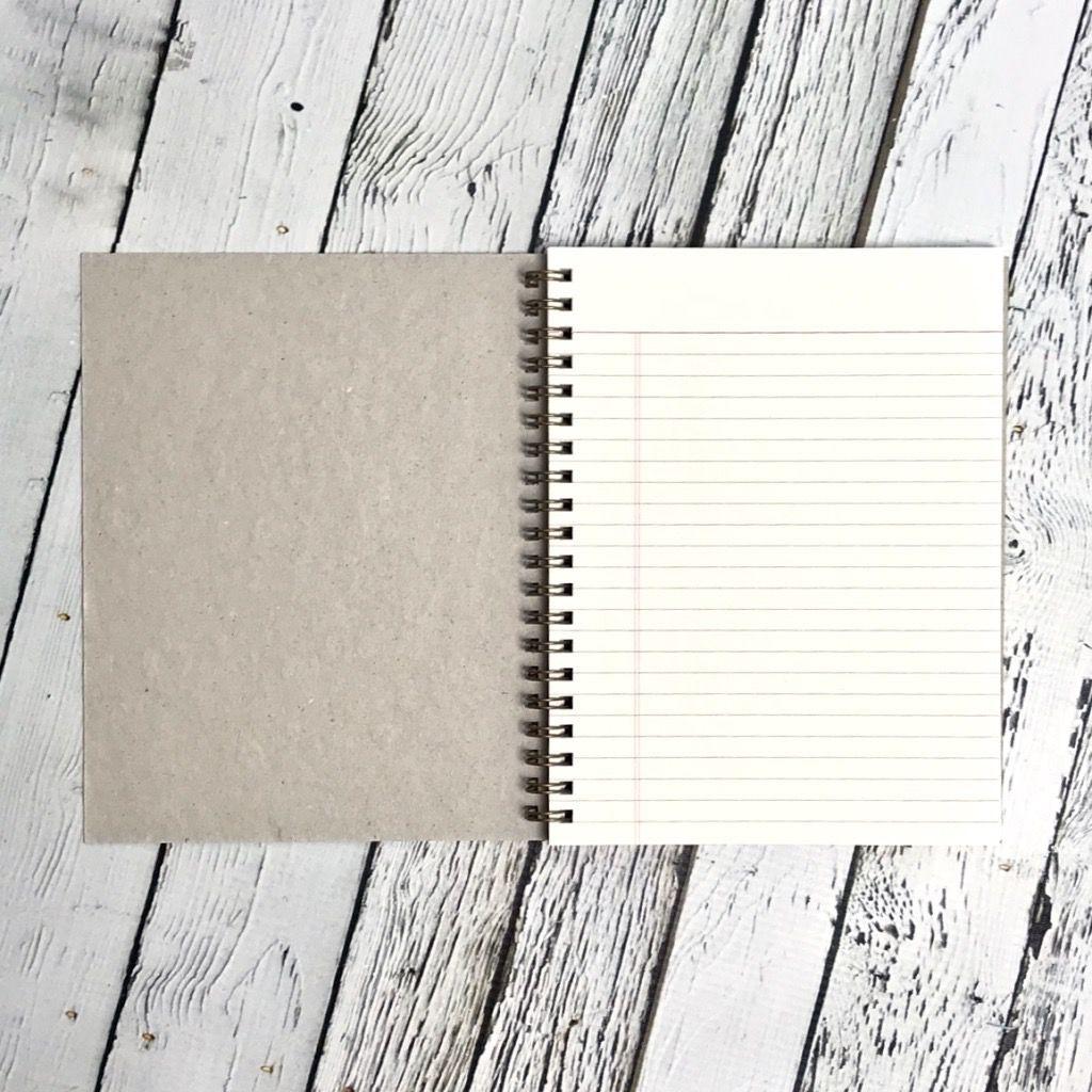 Ruled Flora Notebook
