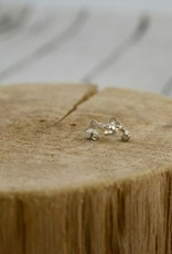 Handmade Sterling Silver Pebble Earrings