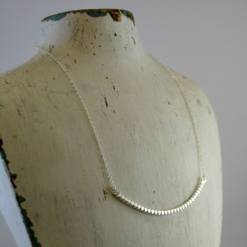 Handmade Sterling Silver Pebble Necklace