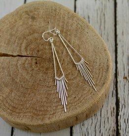 Handmade Sterling Silver Qantu Earrings