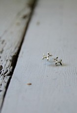 Sterling Silver Balloon Dog Stud Earrings