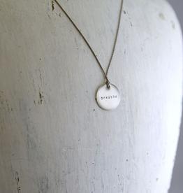 "Breathe Mini Type Necklace on 16"" Cord"