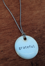 "Grateful Mini Type Necklace on 16"" Cord"