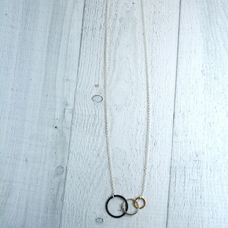 """Mixed Metals Storied Necklace (18"""")"""