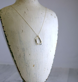 "Mixed Metals Trapezoids Necklace (18"")"