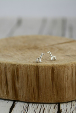 Sterling Silver Balloon Giraffe Stud Earrings
