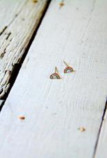 Sterling Silver and Enamel Rainbow Stud Earrings