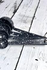 Enameled Spaltterware Measuring Spoons Grey