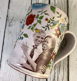 Handmade Floral Icons Mug - First Couple