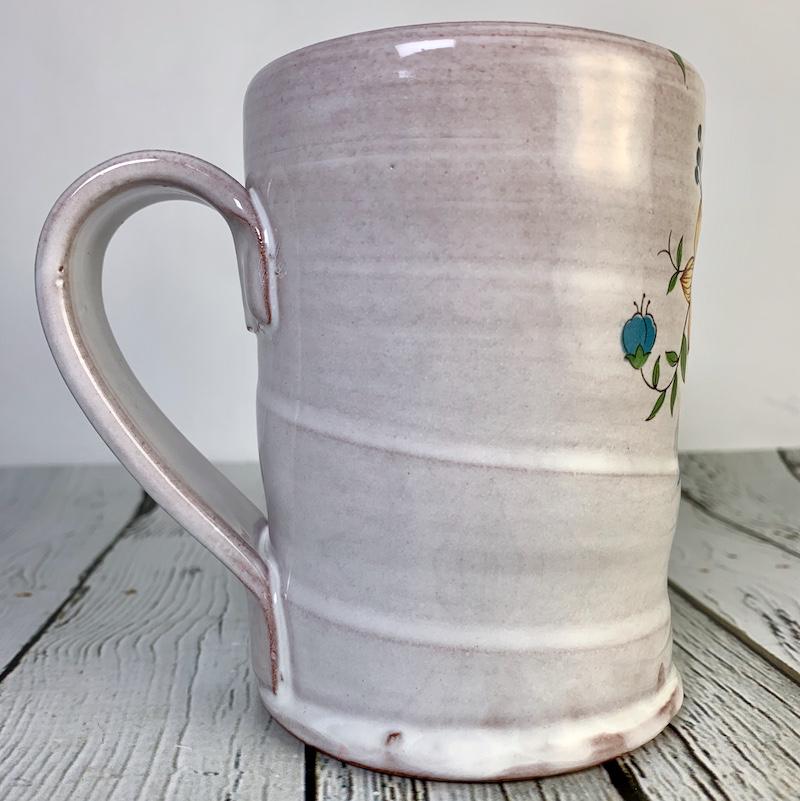 Handmade Floral Icons Mug - First Couple