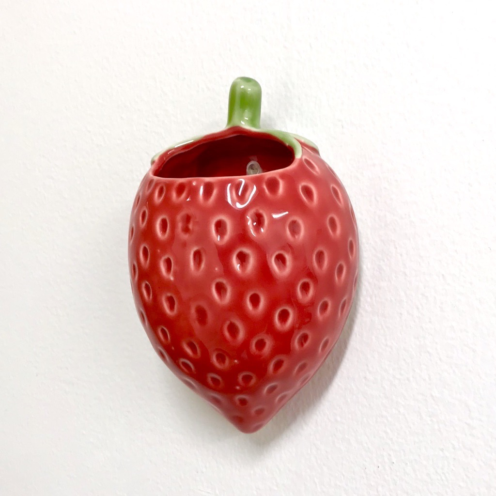 "5-1/2""L Strawberry Wall Planter"