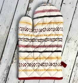 Cotton Hot Mitt, Multi Stripe