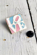 THEFOUND TRANS LOVE (pink & blue) Enamel Pin