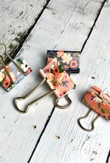 Lively Floral Binder Clips