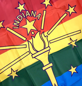 Indiana Rainbow Pride Flag