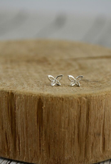 Sterling Silver Open Butterfly Stud Earrings