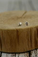 Sterling Silver Origami Elephant Stud Earrings